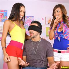 Melanie Jane Rios vaginal fucking totally shaved panties aside realitykings Amia Moretti PureEighteen Miley threesome