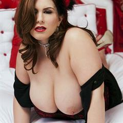 London Andrews todayboobs big tits red lips chubby