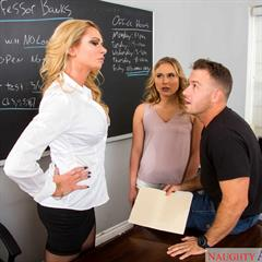 Briana Banks Alyssa Cole naughty america classroom hardcore trimmed 2 girls teacher shaved blonde
