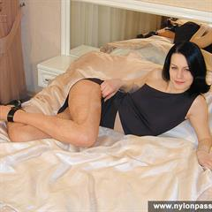 nylonpassion short hair pantyhose shaved xxx69 nylon solo bed garment
