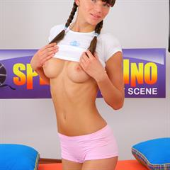 Ashton spermantino upside down hardcore pigtails brunette shaved facial tongue teen