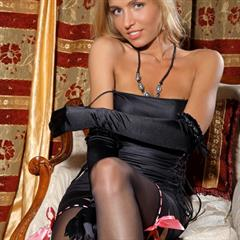 yourdailygirls art-lingerie stockings blonde gloves nylons heels solo babe garment