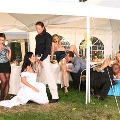 chicksdelivery panties aside stockings hardcore outdoor wedding group bride mofos orgy