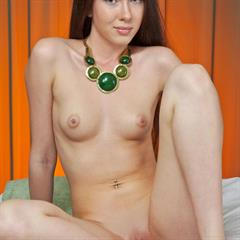 Margo G pinkfineart plump pussy green eyes small tits shaved meaty labia thin skinny
