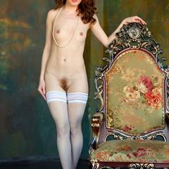 Sienne preview lowres samples white stockings gallerybee open pussy redhead trimmed