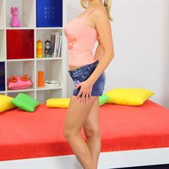 Mandy Dee Mandi girlstested tryteens pigtails hardcore hangers milkers blonde shaved