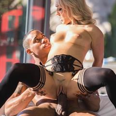 Amber Deen interracial high heels hardcore blowjob private xhorde shaved blonde