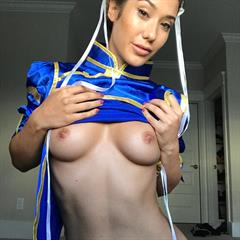 Eva Lovia Chun Lee erocurves hardcore brunette cosplay blowjob trimmed shaved