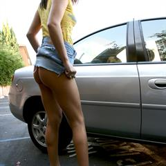 Jessica Valentino pantsdown shirt up clothed unclothed sektnaturell parking lot humiliation teasersvod sexy pose freeones squating
