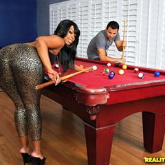 Vanessa Monet RoundAndBrown realitykings pool table hardcore ebony curvy