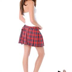 porno-glamour plaid skirt schoolgirl miniskirt uniform garment
